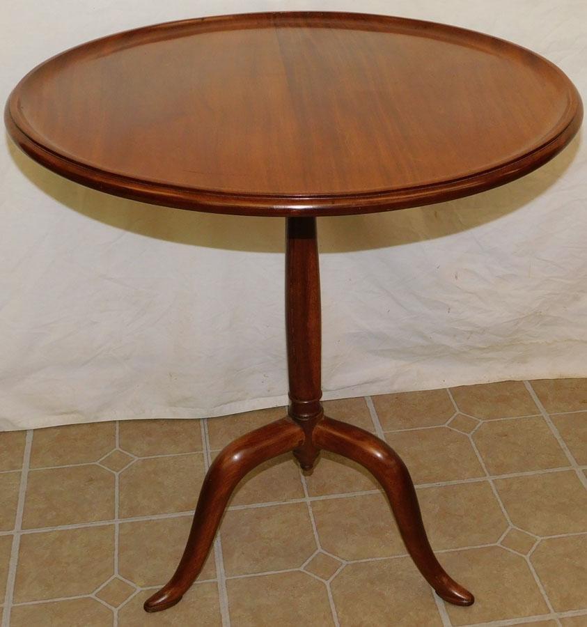 Mahogany Dish Top Pedestal Table