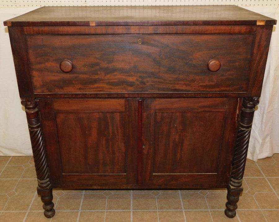 19th C Mahogany Sheraton Butlers Desk