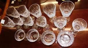 15 Pc Waterford Crystal Stemware