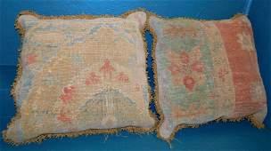 Pair Oriental Rug Pillows