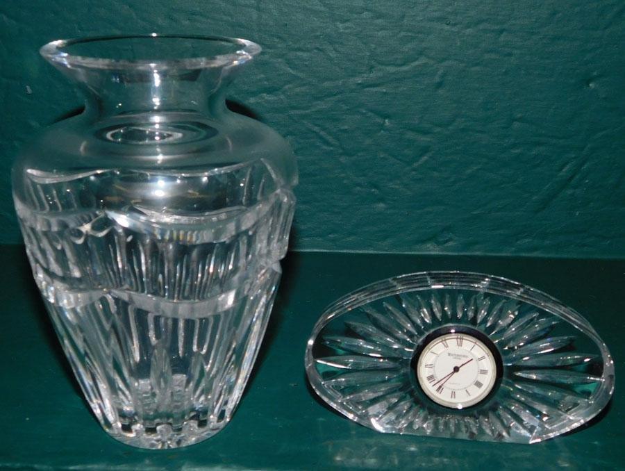 Waterford Vase & Clock