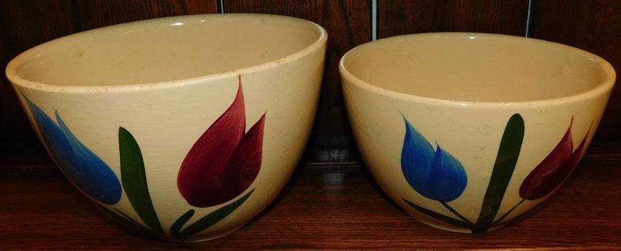 Two Watt Pottery Mixing Bowls