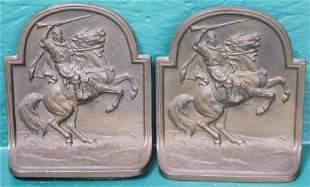 Pair Cast Iron Hubley Bookends