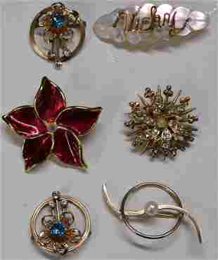Collection Of 6 Ladies Pins
