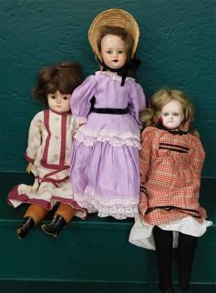 Three Antique Dolls