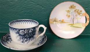 Violet Cup & Saucer By Limoges & Nippon Plate