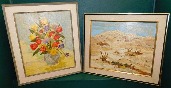 Marion Hall Still Life & Desert Watercolor Collage