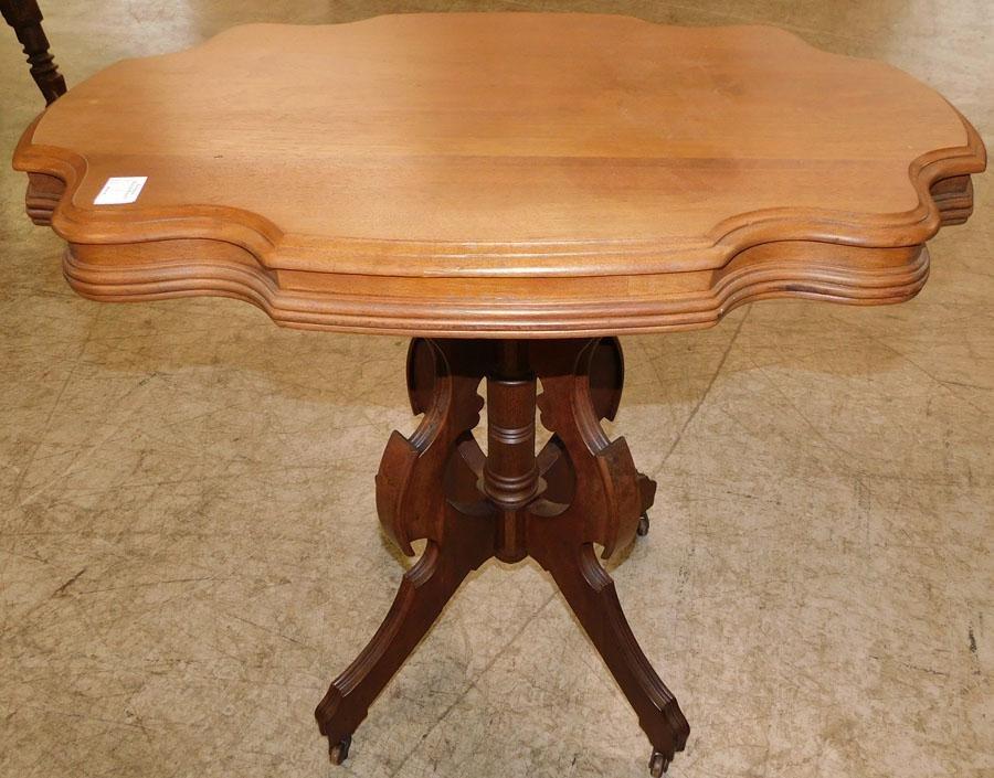 Victorian Walnut Turtle Top Table