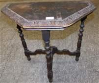 Small Mahogany Console Table By St John  Gables