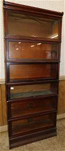 Mahogany 6 Section Barrister Bookcase