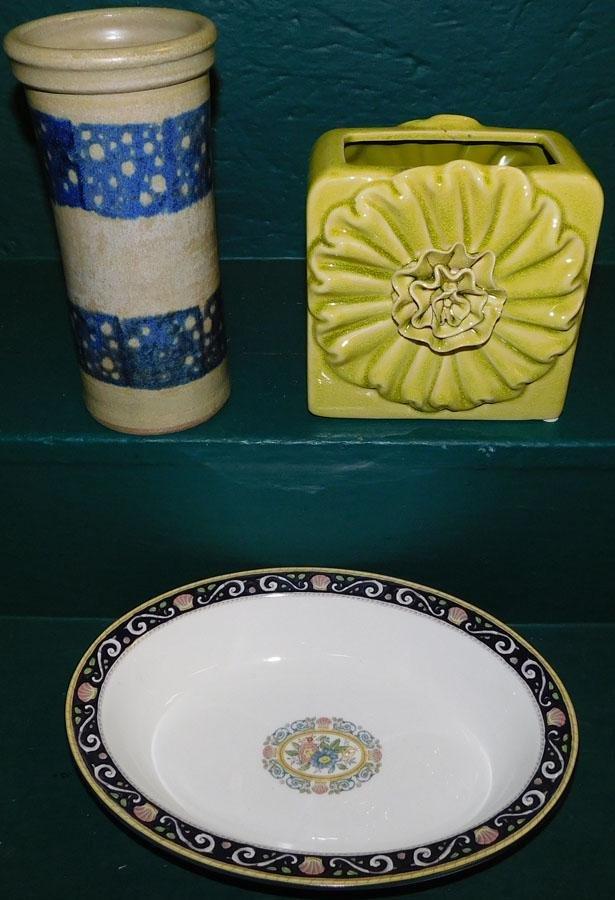 Wedgwood Bowl,Signed Pottery Vase, Pottery Vase