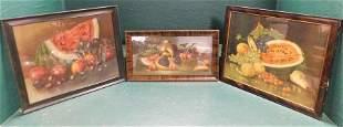 Three Framed Prints Still Life