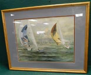 Framed Print Sailboats