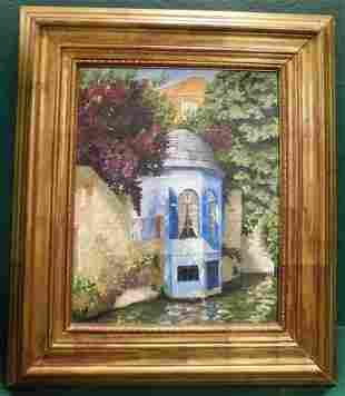 Oil on Canvas Of Cottage Scene