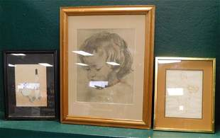 Lot Of Three Pieces Of Artwork