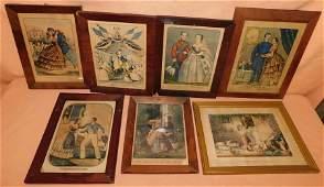 Lot 7 Framed Currier & Ives Prints