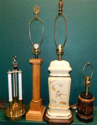 Lot Of 4 Misc. Lamps