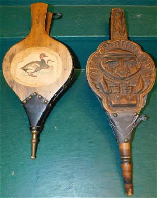 Two Fireplace Bellows