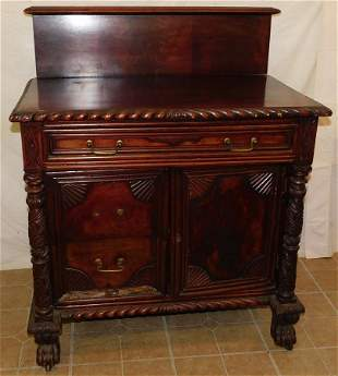 Mahogany Carved Empire Wash Stand