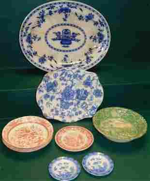Lot Of Antique Transferware & Porcelain