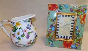 Enamel Pitcher & Mc Kensie Picture Frame