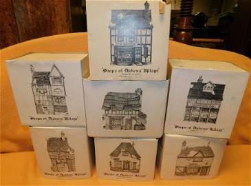 Original 7 Dickens Christmas Village Houses (1984)