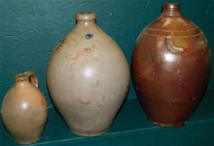 Three Stone Ware Jugs