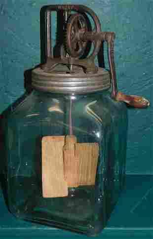 Glass & Metal Butter Churn By Dazey
