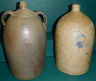 Blue Decor Stone Ware Jug & Stoneware Jug