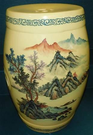 Contemporary Oriental Porcelain Garden Seat