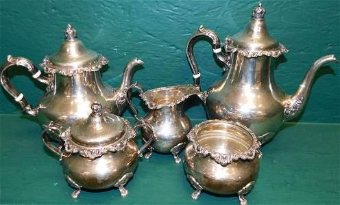 5 Pc Gorham Sterling Tea Set 74.71 Toz
