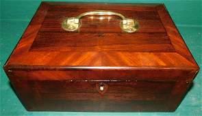 19th C Rosewood Box
