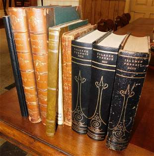 Lot of 8 Vintage Books, (Some Leather Bound)