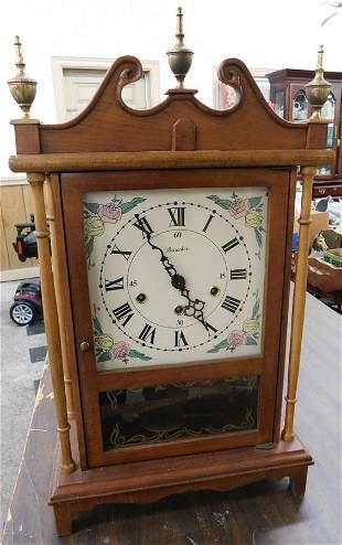 Cherry Contemporary Mantle Clock by Dancker