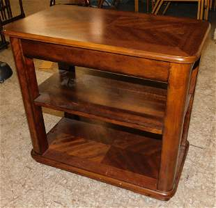 Cherry 3 Tier End Table With Slide