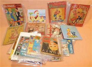 Lot of Vintage Child's Paper Books