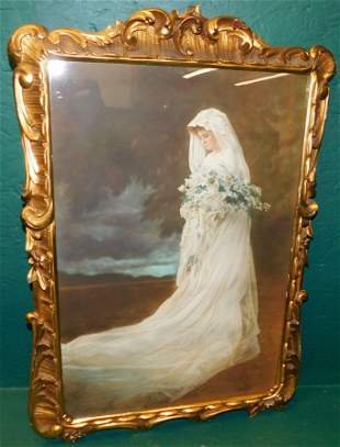 Print Or Watercolor Of A Bride - Signed