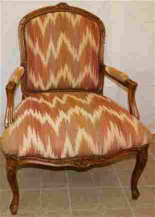 Upholstered Baker Arm Chair