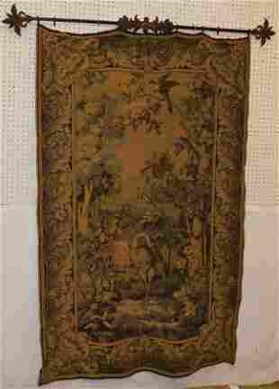 French Tapestry Of Mill Scene W/ Herring