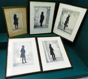 5 Framed Silhouettes