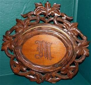 Black Forest Victorian Walnut Carved Letter Holder