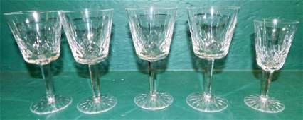 5 Pc Waterford Crystal Stemware