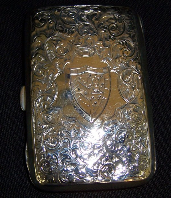 14: English sterling card case (as is)