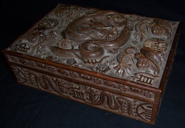 95: Chinese carved dresser box