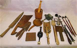 Lot Antique Kitchen Ware