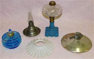 Lot Antique Oil Lamps