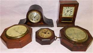 Lot 5 Antique Clocks