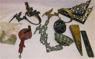 Lot Of Metal Oil Lamp Brackets,Wall Pocket,Slicer