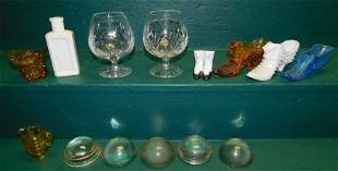 Lot Glass -- Shoes -- Misc. Items
