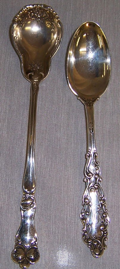 5: (2) Sterling spoons (sugar spoon, teaspoon)